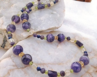 Amethyst and Citrine Necklace