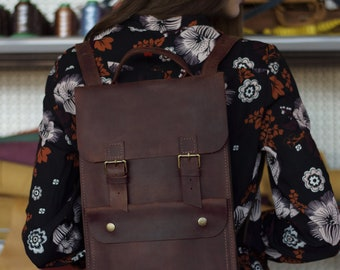Leather Backpack Mini Backpack Leather Laptop Backpack Leather Bag Backpack Women Laptop Backpack Hipster Backpack Leather Rucksack Backpack