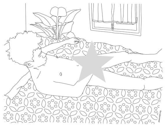 Masturbation coloring page penis printable file
