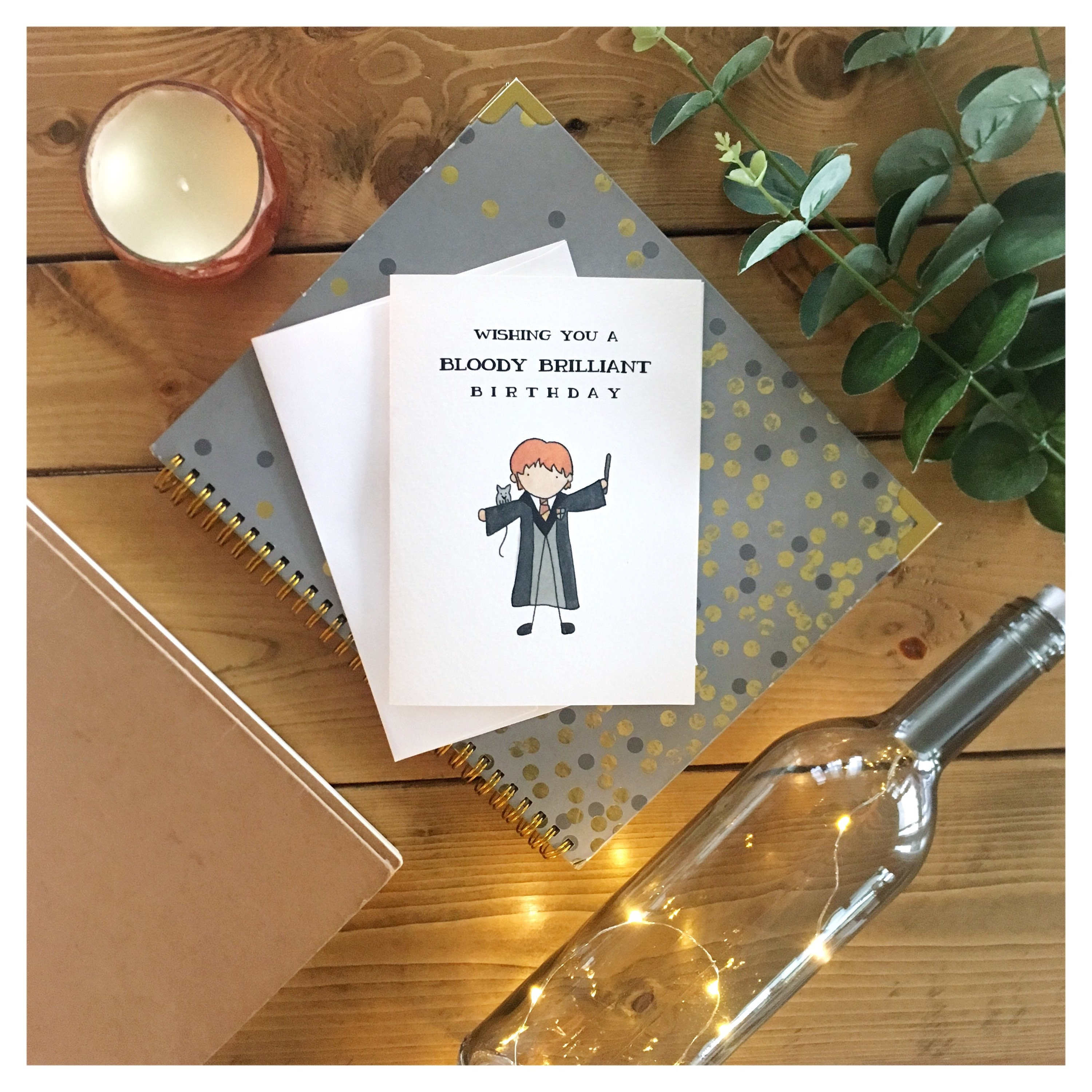 Bloody brilliant birthday birthday card greeting card funny bloody brilliant birthday birthday card greeting card funny card punny harry potter ron weasley for him for her british dad joke bookmarktalkfo Image collections