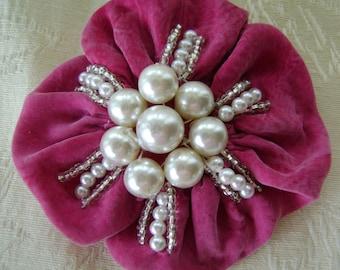 Pink & Pearls Pin Brooch