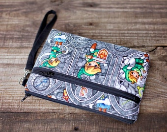 Clearance Link Wristlet with removable strap - Zelda