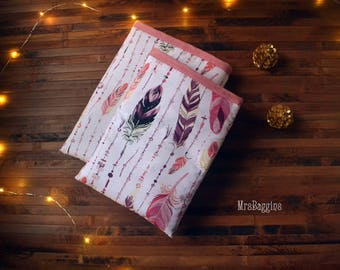 Feather booksleeve_hardcover booksleeve paperback_extra puffy booksleeve_bibliophile_bookaholic_book protector_reader gift_pink book cozy