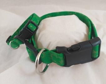 Dog or Cat Shamrock Collar, St. Patrick's Day Collar,  Adjustable Collar, Breakaway Cat Collar, Collier de chien, collar de perro