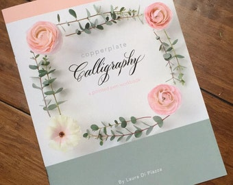 SALE - PRINT - Copperplate Calligraphy Workbook - Learn Calligraphy - How- To Workbook
