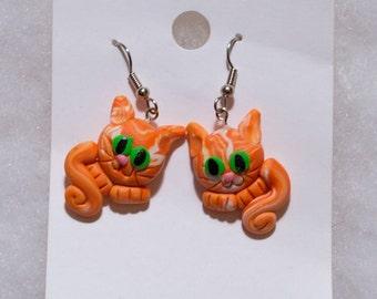 Tabby Cat Earrings