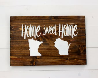 Two States | Long Distance Relationship | Choose Two States | Home Sweet Home Sign | Long Distance | Housewarming | Entryway | Best Friends