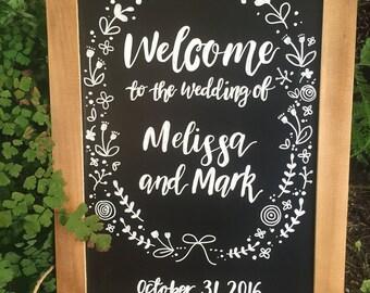 A3 Custom Wedding Chalkboard