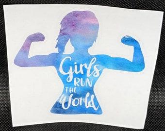 Decal - Girls Run The World - Strong - Girls