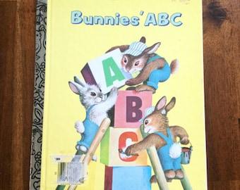 Bunnies' ABC Vintage Little Golden Book