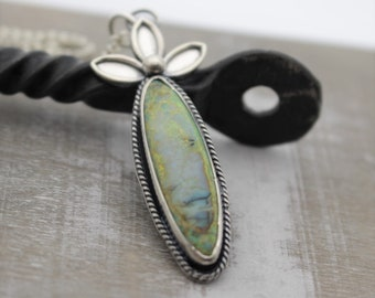 Monarch Opal Necklace - Sterling Silver Necklace - Gift for her - Pendant - Opal Jewelry
