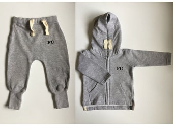 EMBROIDERED personalised Baby Initals/Name Tracksuit - Hoodie & Joggers