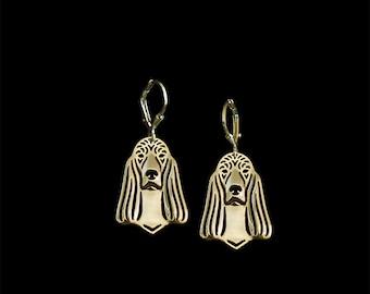 Irish Setter earrings - Gold
