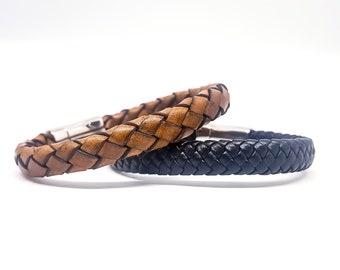 Mens braided leather bracelet.