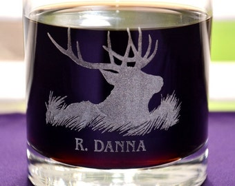 Personalized Engraved Hunting Glass - Dad's Birthday, Father's Day Gift, Custom Outdoor and Hunters Gift, Groomsman Gifts, Retirement Gift