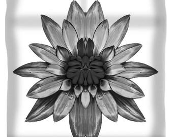 Unique Black and White Flower Duvet Cover,Bohemian Duvet,Boho Duvet,Floral Print Bedding,Comforter Cover,King,Queen,Full,Twin,Home Decor