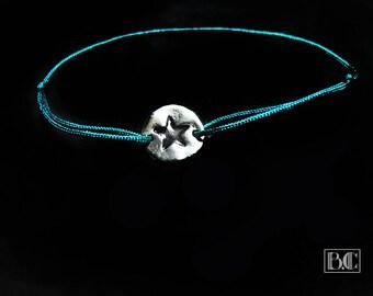 Adjustable bracelet Star Blue cord