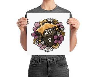 Honeycomb D20 Poster - Assorted Sizes - D&D Tabletop Gaming