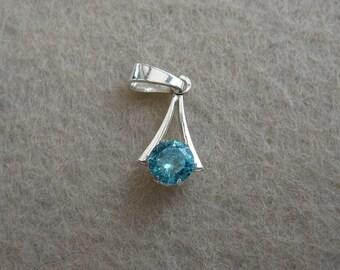 Aquamarine Cubic Zirconia Pendant