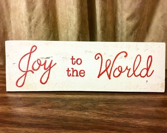 Joy to the World l Christmas Decor l Christmas Sign l Joy the the World Sign l Wooden Sign l Pallet Wood l Customizeable l
