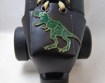 Leather Skate Toe Guards with T Rex