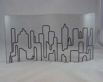 Glass Cityscape Sculpture
