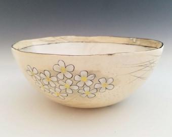 Large Ceramic Bowl, Serving Bowl, Fruit Bowl, Salad Bowl, Handmade Porcelain Bowl