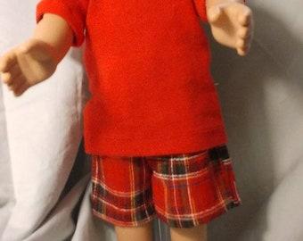 Boys plaid Bermuda shorts