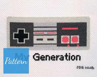 My Generation - NES - Cross Stitch Pattern