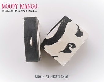 No30. 'MOON AT NIGHT' Handmade Soap with Activated Charcoal