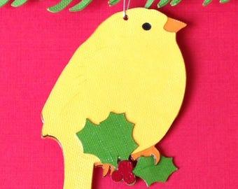 Canary Christmas tree ornament