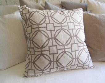 SURI CARAMEL geometric 24x24 Large Pillow Cover