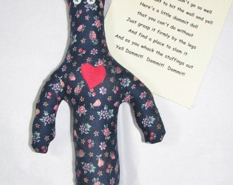 Dammit Doll with heart