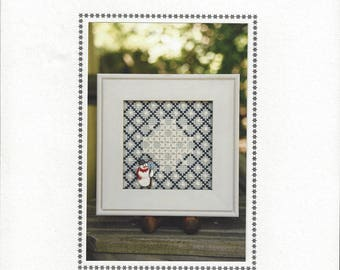 """Clearance - """"Snowflake Block"""" Counted Cross Stitch Chart by Sekas & Co."""
