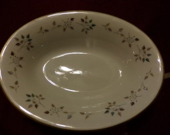 Vintage Princess China Tru- tone Riviera oval dish from the 1950's, gift for her, vintage china