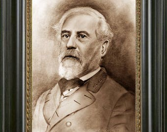 General Robert E Lee Art, General Lee Pencil Drawing, Robert E Lee Print, American Civil War Art, General Lee Painting, History Art, Gift