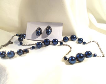 Necklace and earrings with clips (193)