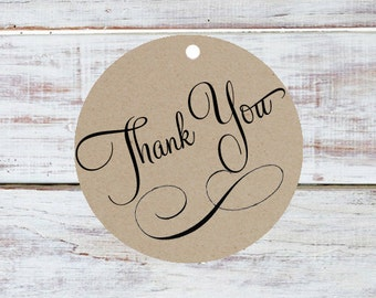 Thank you tag - Set of 10 - Kraft Paper thank you gift tag / Wedding Favor thank you Tag / Party Favor Thank you tag