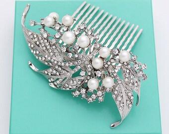 Bridal Comb, Wedding Hair Accessories, Rhinestone Bridal Hair Clip, Wedding Headpiece, Silver Bridal Hair Pieces, Wedding Hair Combs