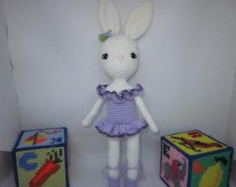 Bunny Ballerina,Ballerina Easter Bunny, Amigurumi Ballerina Easter Bunny, Ballerina Bunny, Ballerina Rabbit Toy, Easter Rabbit, Easter Toy,