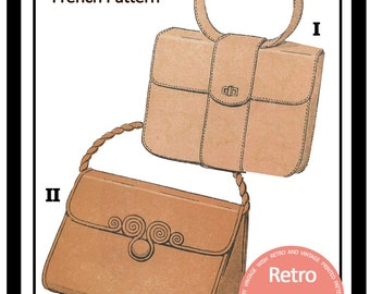 1950s Handbag/Purse French Sewing Pattern - Paper Sewing Pattern