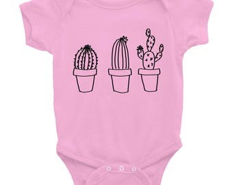 Cactus One Piece, Infant Bodysuit, Cactus Baby Shower, Cactus Baby Clothes, Baby Shower Gift, Succulent Onesie, Cactus Onesie,Baby One Piece