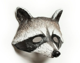 The Wild Racoon Mask Animal Party Mask Fancy Dress Woodland Wall Mount Papier-mache Halloween Masquerade Carnival
