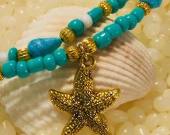 Gold Sea Shell Ankle Bracelet