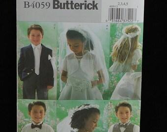 Butterick Pattern B4059 Wedding Bridal Accessories NEW Kids Sizes 2-5