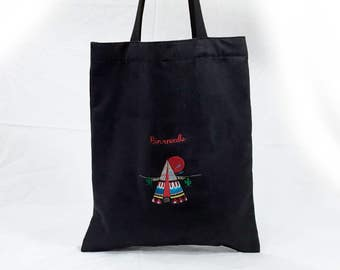 Indian Tent Embroidered Ecobag BK suede
