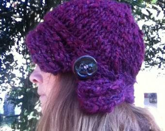 Sweetheart Cloche Hat PDF Knitting Pattern - US 10.5 / 6.5 mm