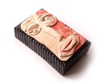 Head sculpture, Abstract art sculpture, Contemporary sculpture, Ceramic face, Wall sculpture, 3D wall art, OOAK sculpture, Wall mask