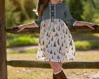 Maize Dress Girls PDF Pattern-Holiday Dress Pattern-Tunic PDF Pattern-Girls Dress Pattern-Tween Girl Dress Pattern-Tween Tunic Pattern