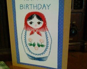 Birthday Matryoshka Doll Card
